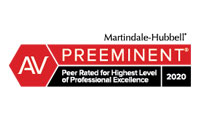 Martindale-Hubbell Peer Review Ratings 2020
